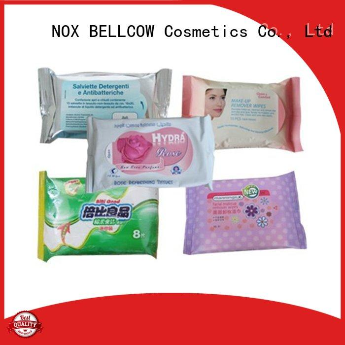 NOX BELLCOW adult men's cleansing wipes manufacturer for skincare