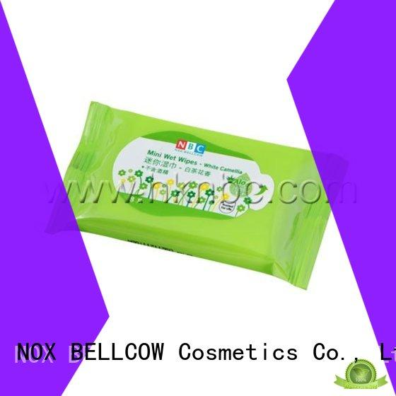 NOX BELLCOW 10pcs cleansing wipes manufacturer for skincare