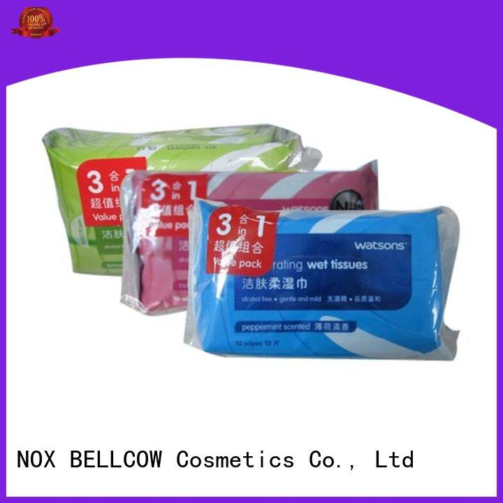NOX BELLCOW individual men's cleansing wipes factory for skincare
