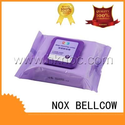 NOX BELLCOW moisturizing travel makeup wipes pads for hand