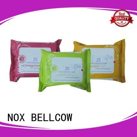 NOX BELLCOW wet facial cleansing wipes factory for skincare