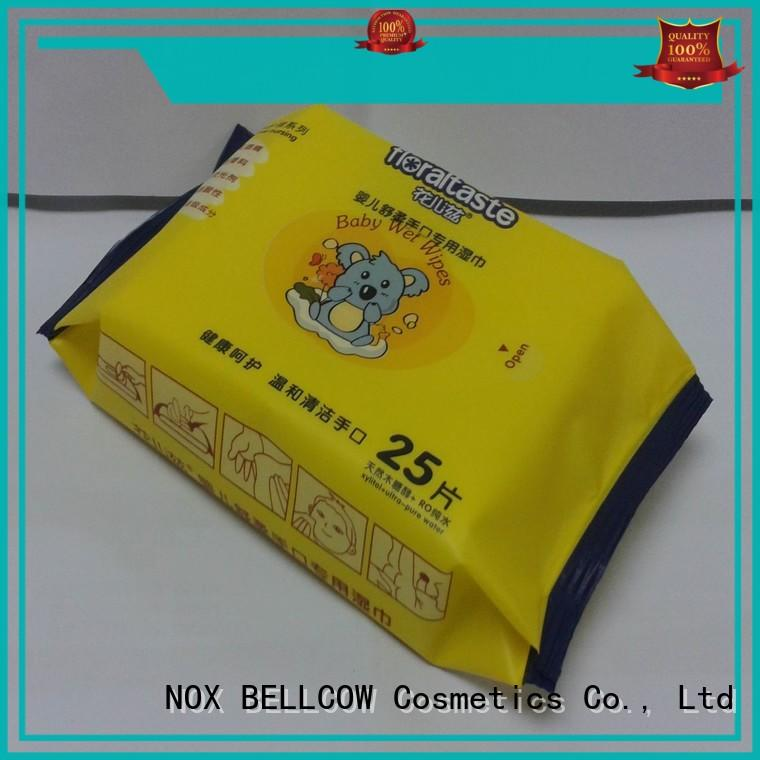 cotton baby biodegradable baby wipes NOX BELLCOW Brand