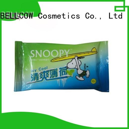 green tea cleansing wipes 10pcs supplier for adult