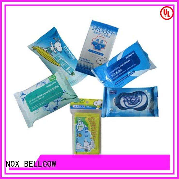 NOX BELLCOW lemon facial cleansing wipes supplier for adult