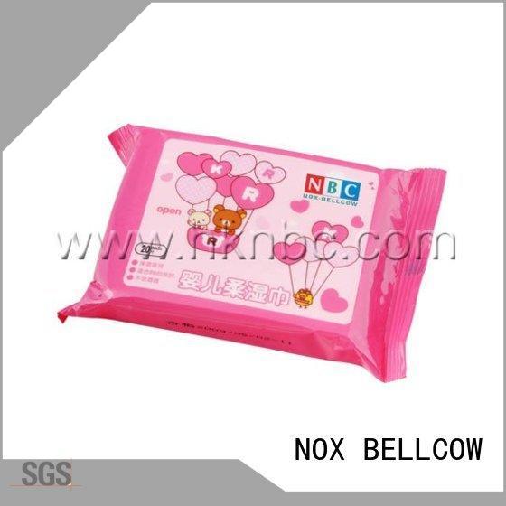 NOX BELLCOW lid antibacterial baby wipes supplier for body
