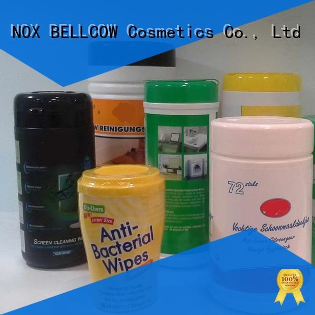 safety nox bellcow cosmetics wipes supplier for adult