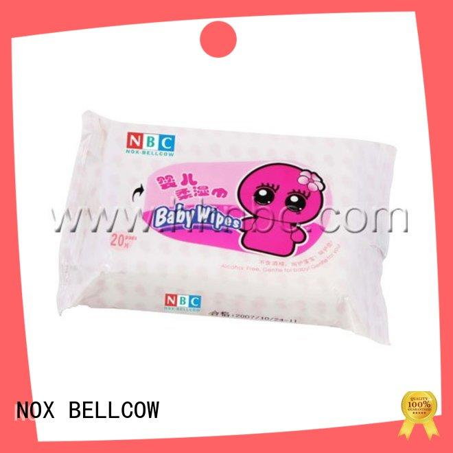 NOX BELLCOW cotton best baby wipes supplier for body