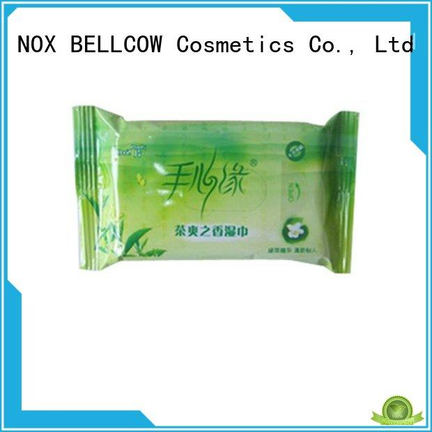 NOX BELLCOW cooling facial cleansing wipes supplier for hand
