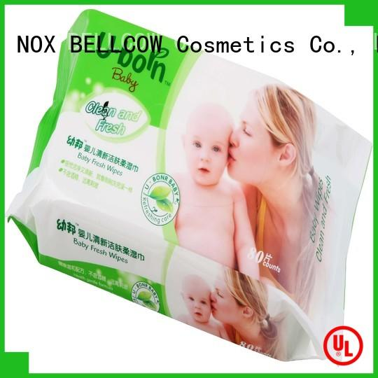 NOX BELLCOW wet pure baby wipes manufacturer for body