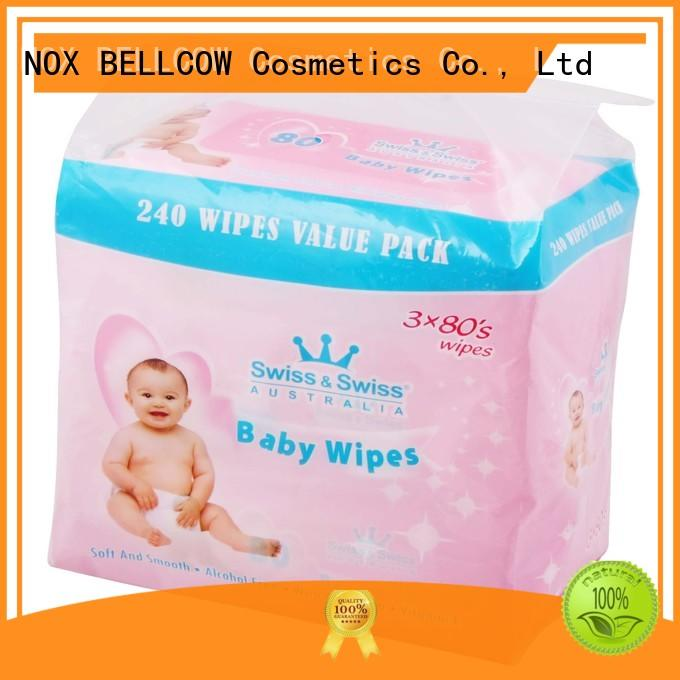 fragrance baby wipe clean wholesale for infant NOX BELLCOW