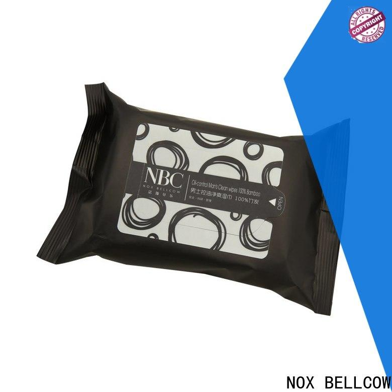 NOX BELLCOW individual men's facial cleansing wipes wholesale for hand