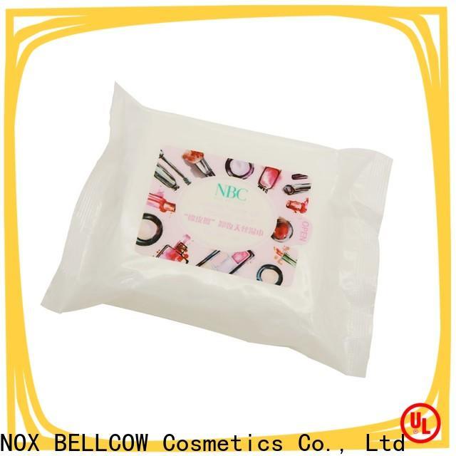 NOX BELLCOW eyelash makeup remover wipes for sensitive skin supplier for ladies