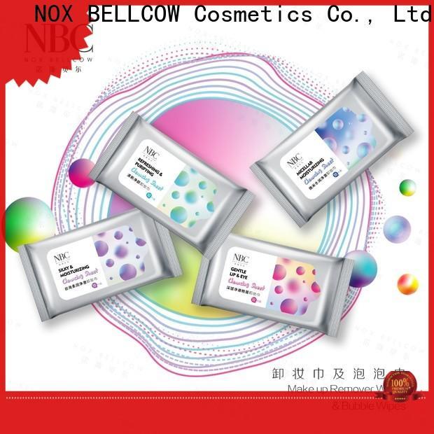 NOX BELLCOW Custom best makeup remover wipes Supply for women