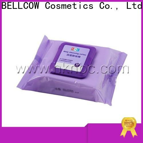 NOX BELLCOW cotton natural makeup remover wipes supplier for skincare