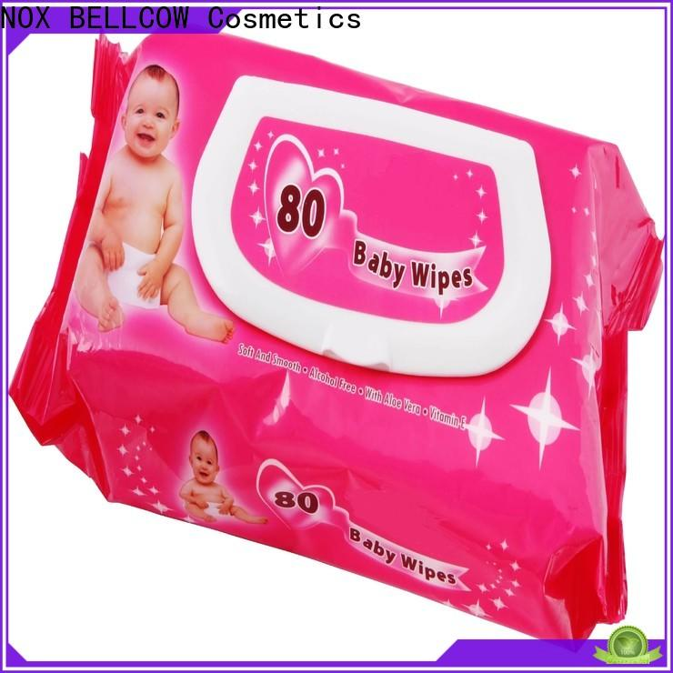 NOX BELLCOW 25pcs baby wet wipes supplier for skincare