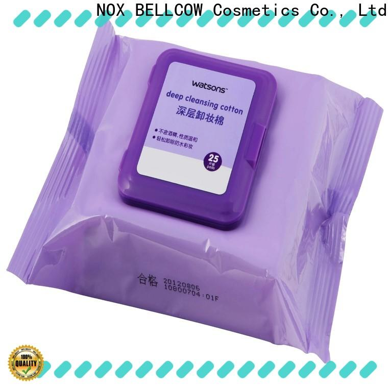 NOX BELLCOW environmentally makeup remover wipes for sensitive skin supplier for ladies