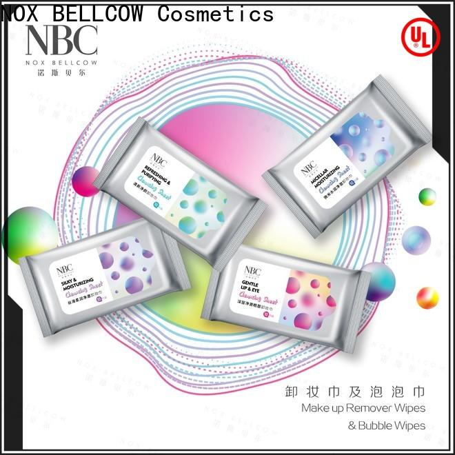 NOX BELLCOW Make-up remover wipes factory for skincare