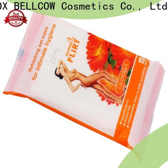 NOX BELLCOW green tea facial cleansing wipes factory for ladies