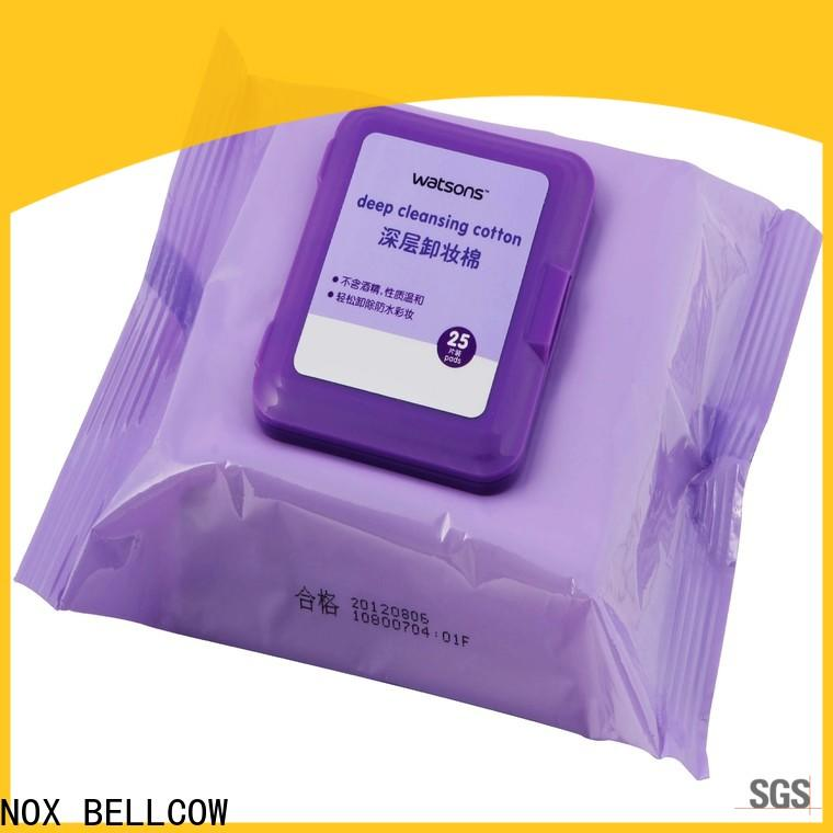 NOX BELLCOW cotton makeup remover tissue manufacturer for neck