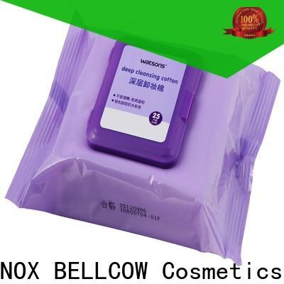 NOX BELLCOW veoceltm makeup remover wipes for sensitive skin wholesale for skincare