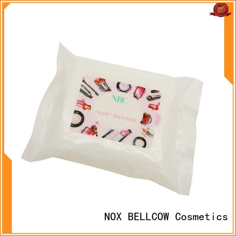 NOX BELLCOW biodegradable best makeup remover wipes wholesale for ladies