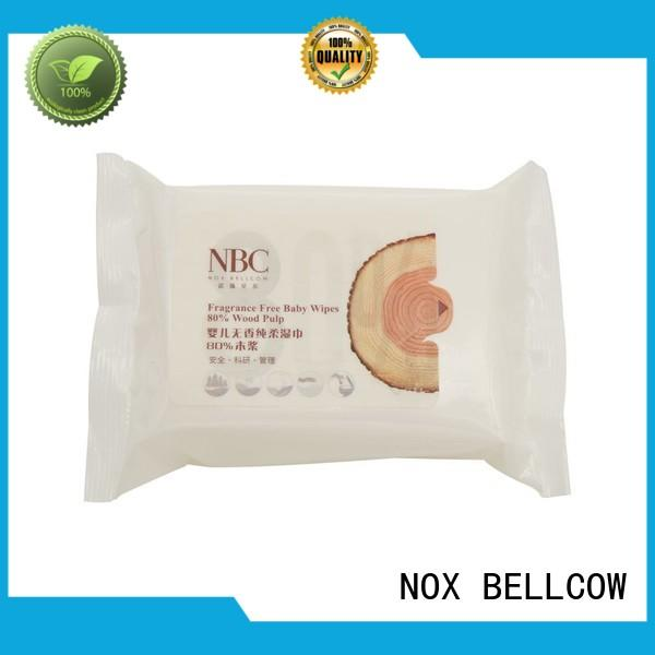 cotton hand tender baby biodegradable baby wipes NOX BELLCOW Brand