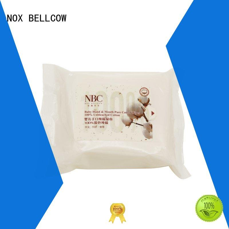 baby cotton biodegradable baby wipes hand NOX BELLCOW company