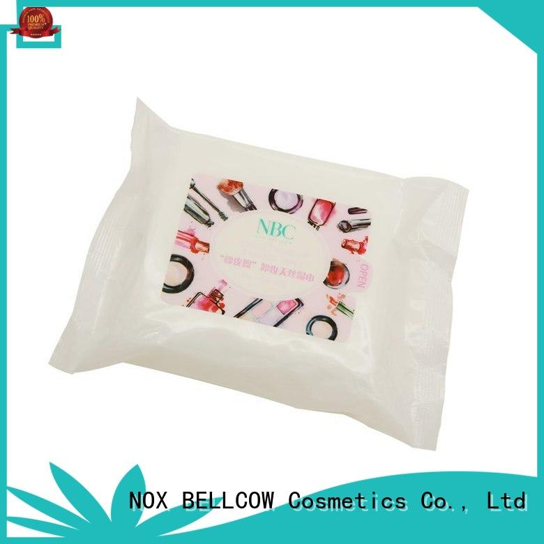 NOX BELLCOW wet natural makeup remover wipes factory