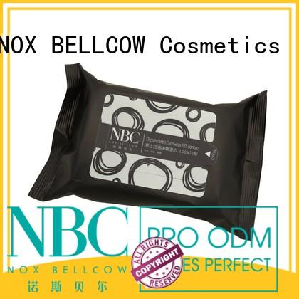 NOX BELLCOW individual men's facial cleansing wipes supplier for women